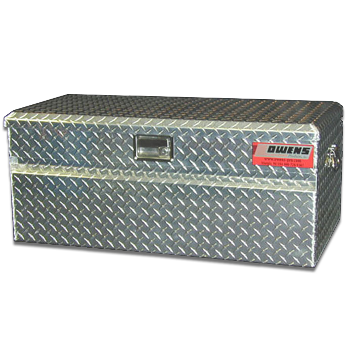 Owens Products 44029 Truck Tool Box Garrison Series Utility Chest / 46.5 Inch / Diamond Tread Aluminum / Bright Polished /