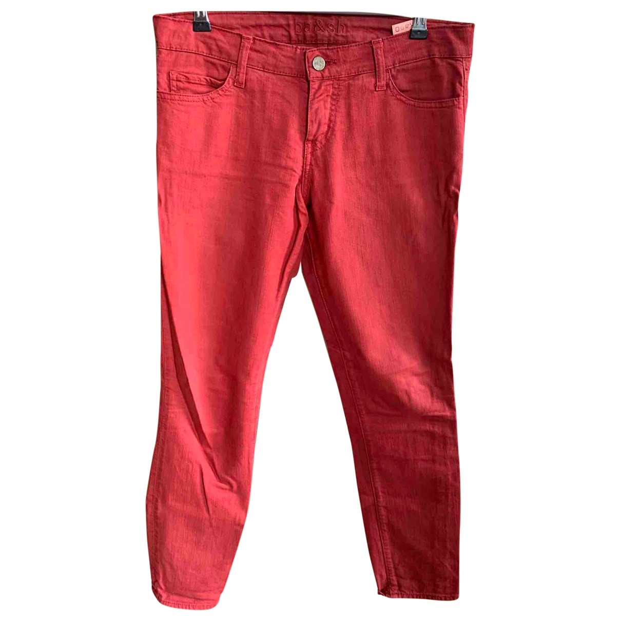 Ba&sh \N Red Cotton - elasthane Jeans for Women 25 US
