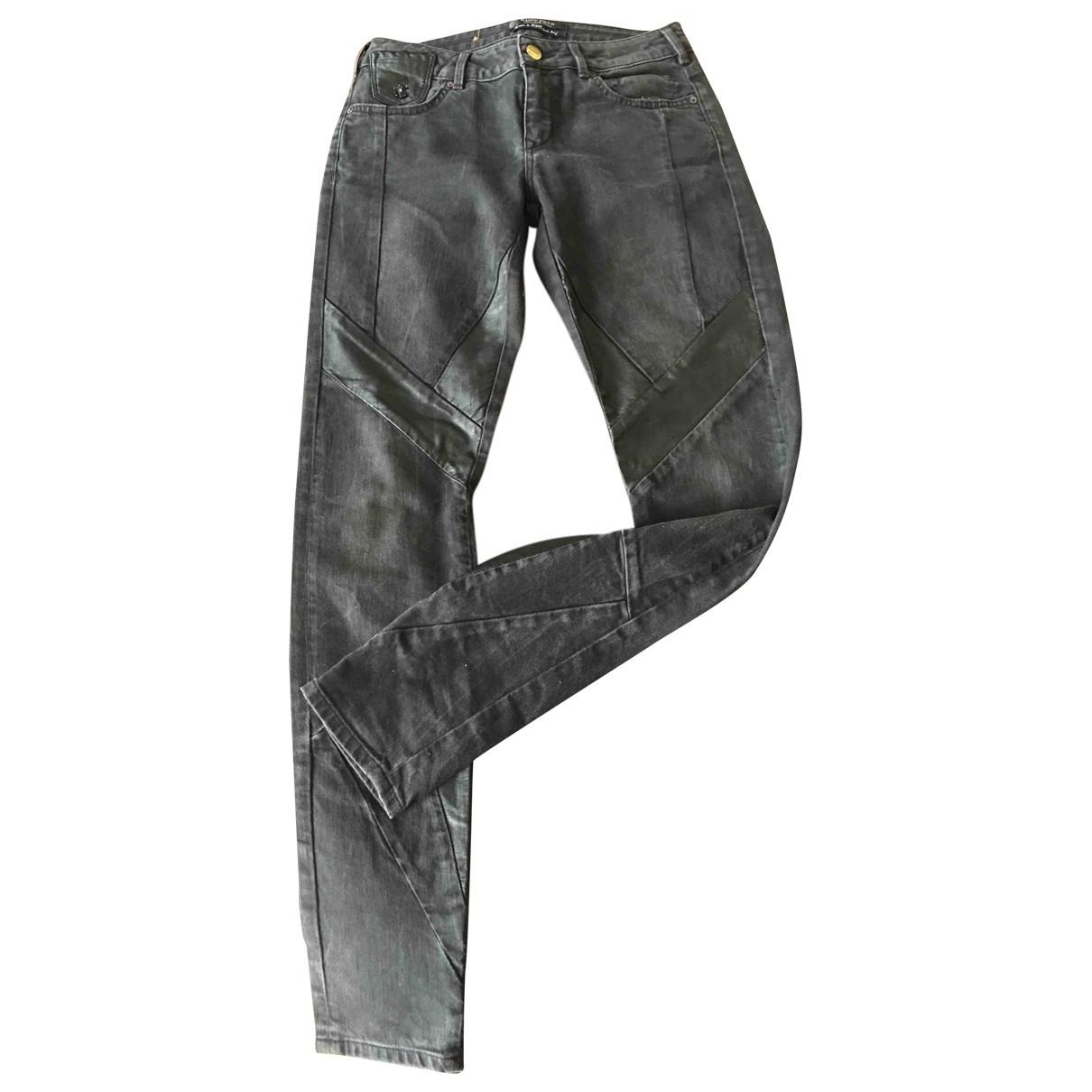 Maison Scotch \N Black Denim - Jeans Trousers for Women One Size International