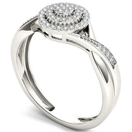Womens 1/6 CT. T.W. Genuine White Diamond 10K Gold Engagement Ring, 8 , Multiple Colors