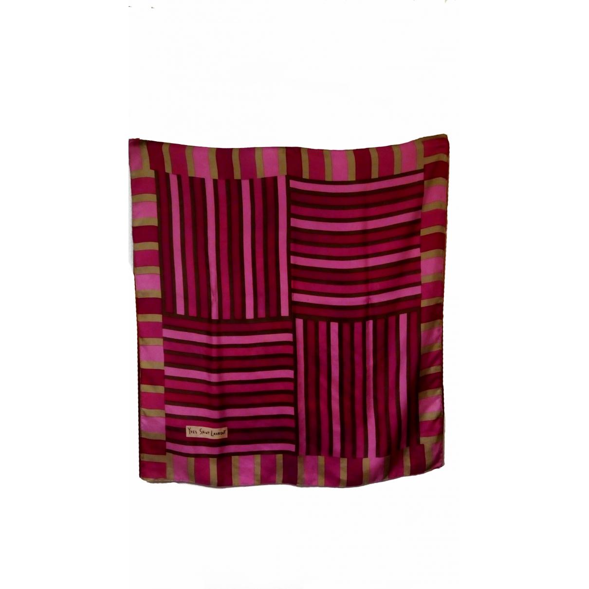 Yves Saint Laurent \N Pink Silk scarf for Women \N