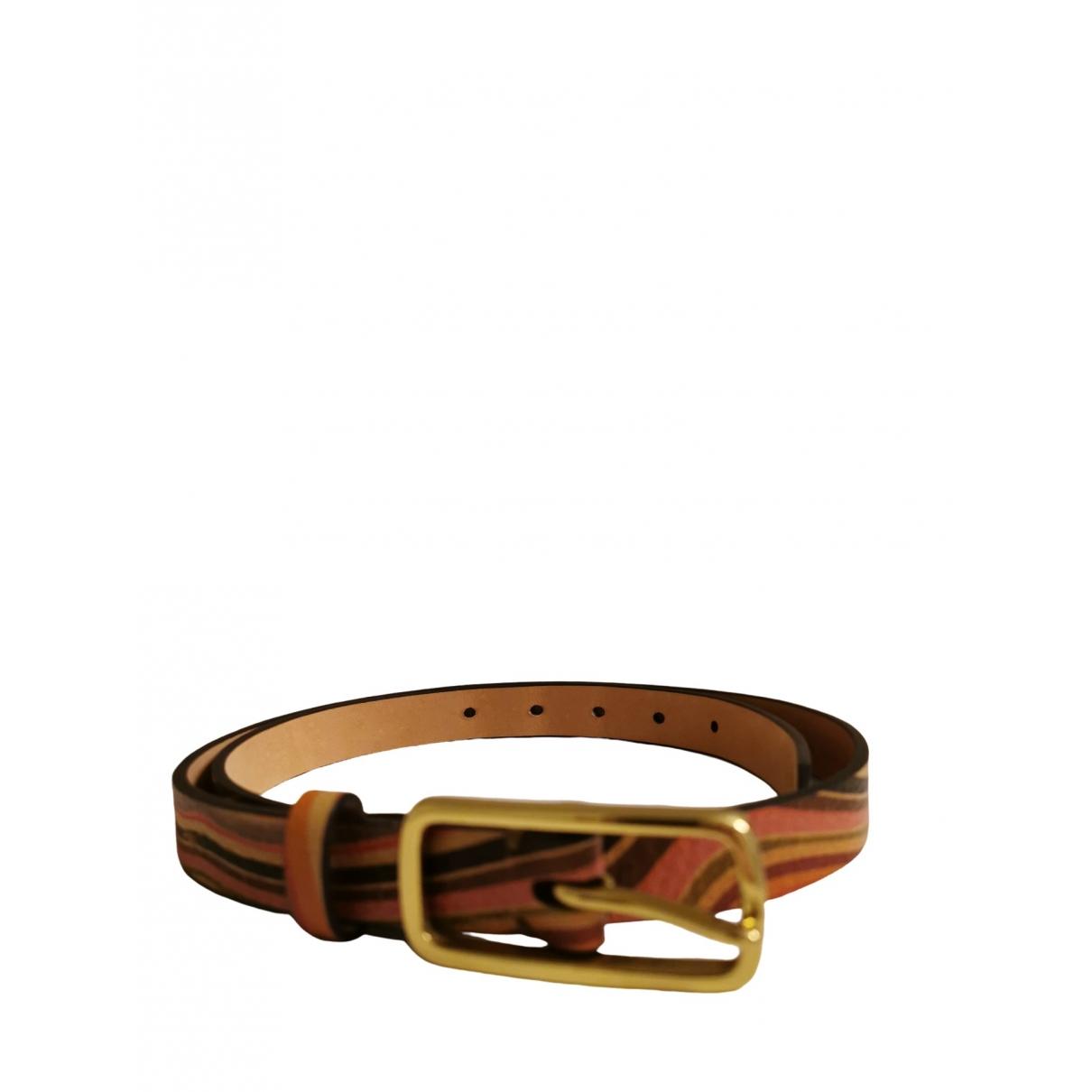Paul Smith \N Leather belt for Women M International