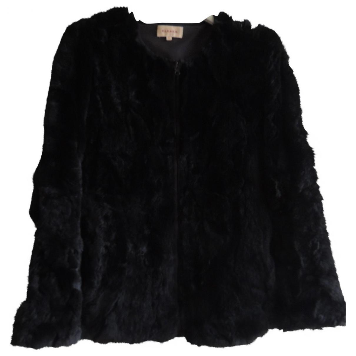 Parosh \N Black Rabbit coat for Women S International
