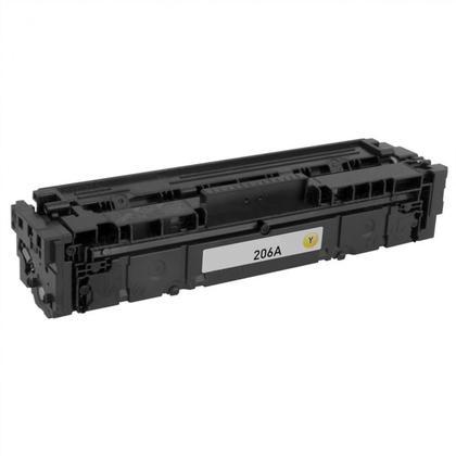 Compatible HP 206A W2112A cartouche de toner jaune - sans puce - Moustache®