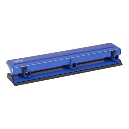 Perforateur 3 trous, capacite de 15 feuilles - Moustache@ - bleu