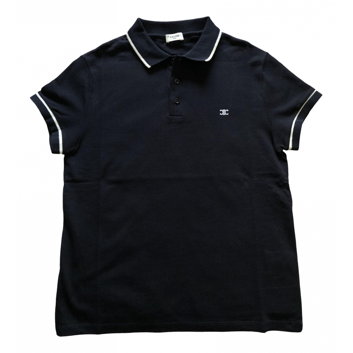 Celine \N Blue Cotton Polo shirts for Men M International