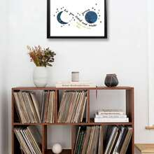 Moon Pattern Wall Print Decor Without Frame Without Frame