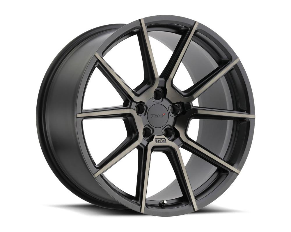 TSW Chrono Wheel 17x8 5x108 40mm Matte Black w/Machine Face & Dark Tint