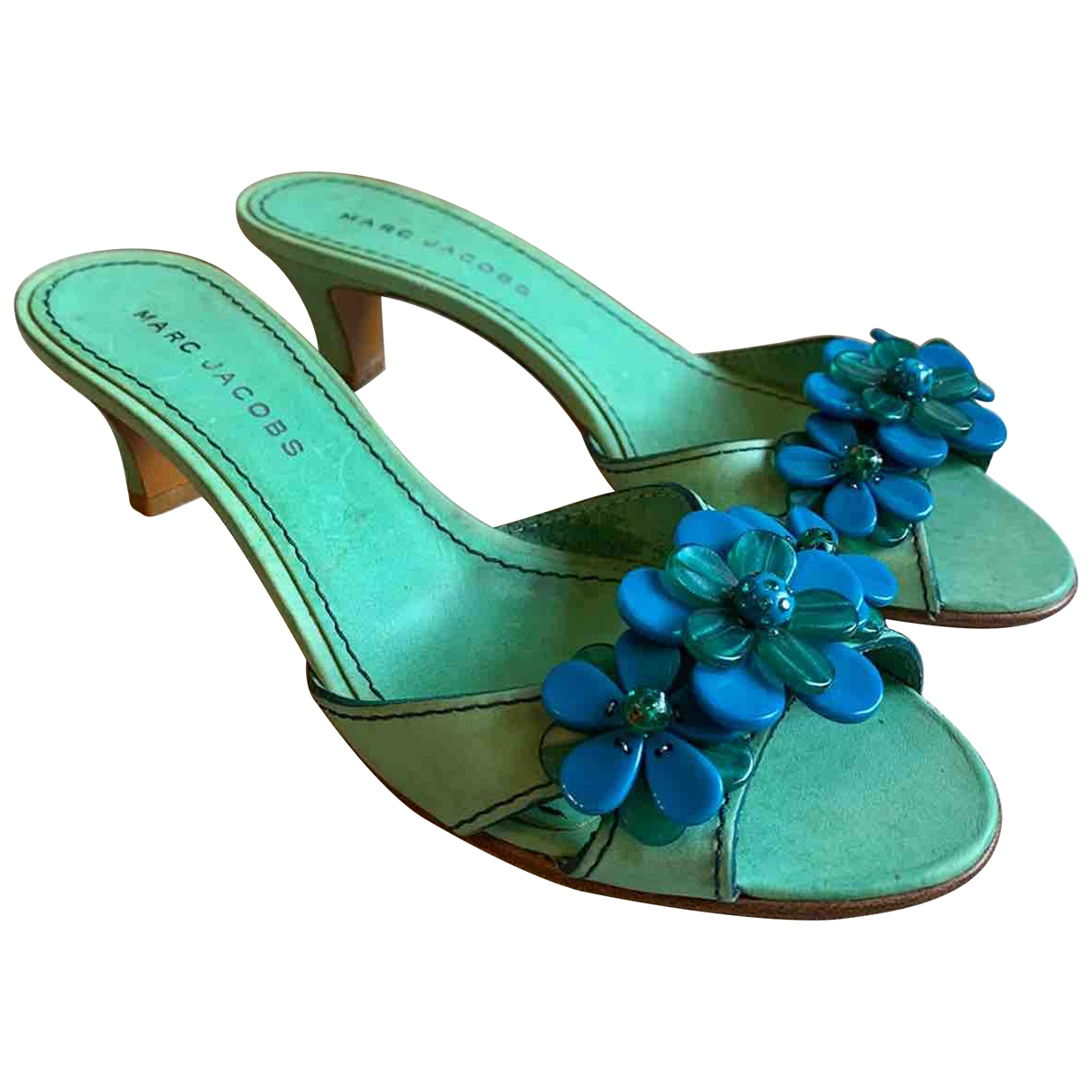 Marc Jacobs \N Green Leather Sandals for Women 37 EU