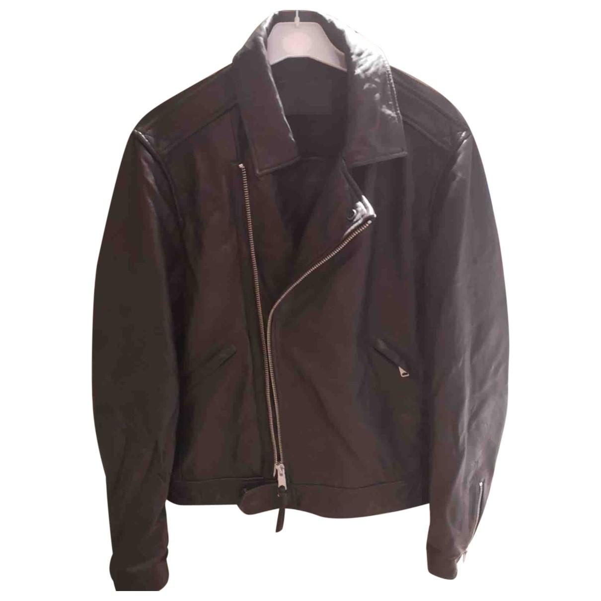 All Saints \N Black Leather jacket  for Men M International