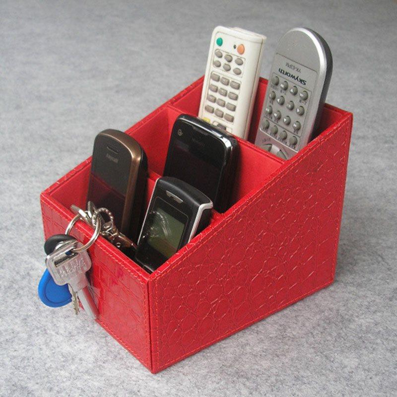 Beddinginn Leather Desktop Storage Box Plain Japanese Storage Boxes