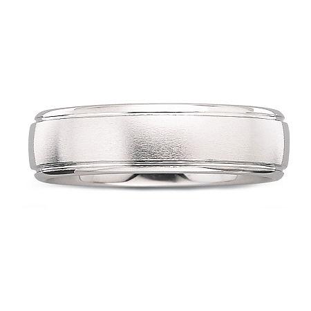 Mens 6mm Tungsten Carbide Ring, 9 1/2 , No Color Family