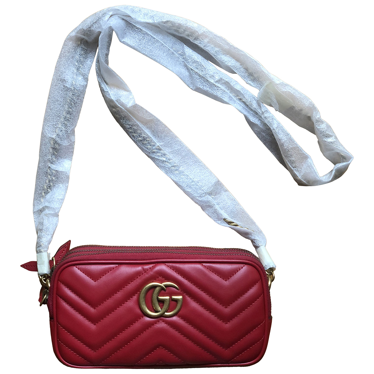 Gucci Marmont Red Leather handbag for Women \N