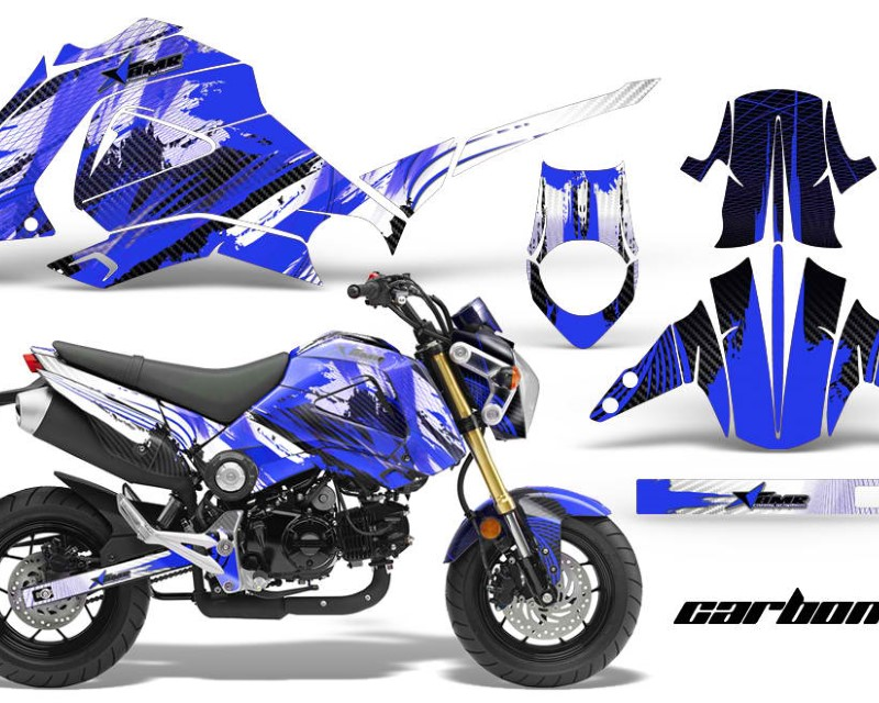 AMR Racing Motorcycle Graphics Kit Decal Sticker Wrap For Honda GROM 125 2013-2016áCARBONX BLUE