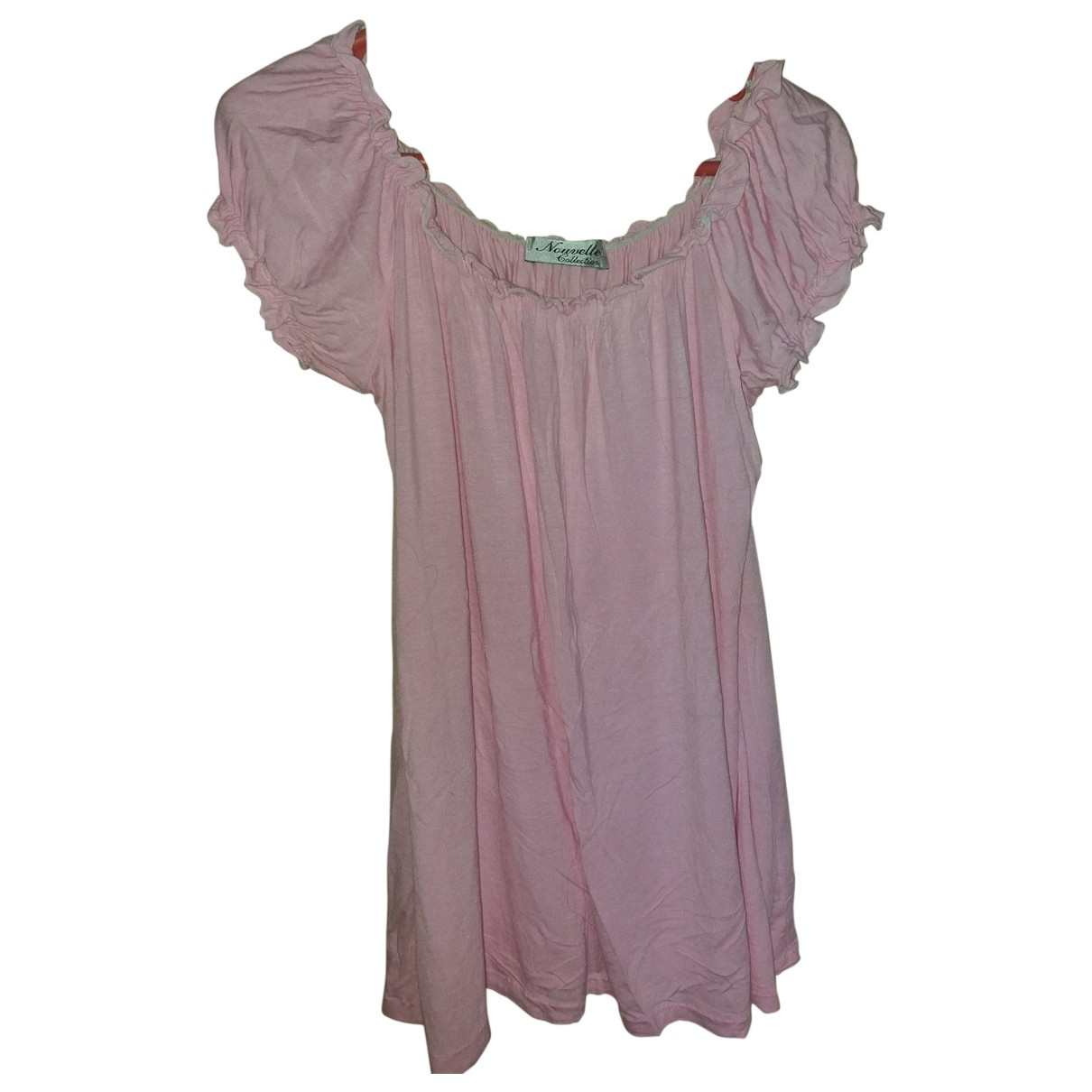 Non Signé / Unsigned \N Pink Cotton  top for Women 40 IT