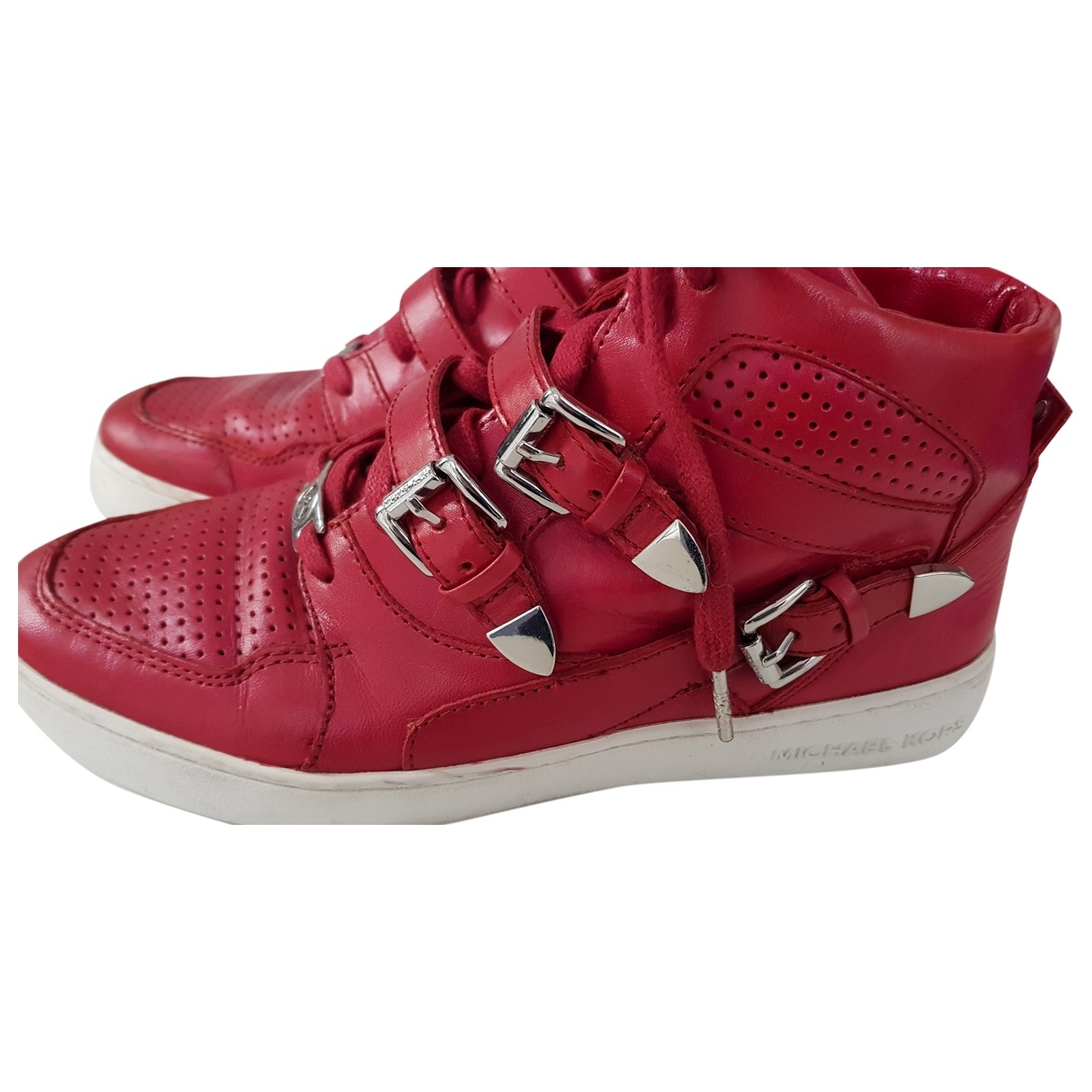 Michael Kors \N Red Leather Trainers for Women 39 EU