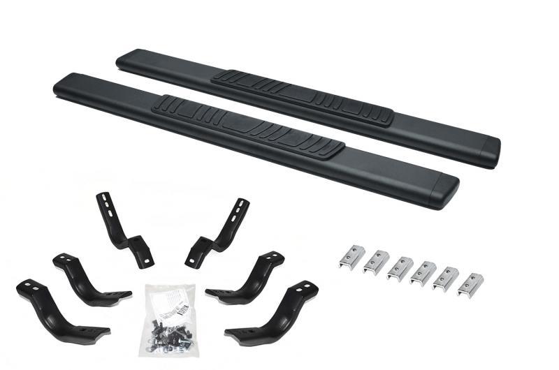 Go Rhino 685418052T 5 OE Xtreme Low Profile SideSteps Kit - 52 Long Textured black + Brackets Ford F-250 2015-2016