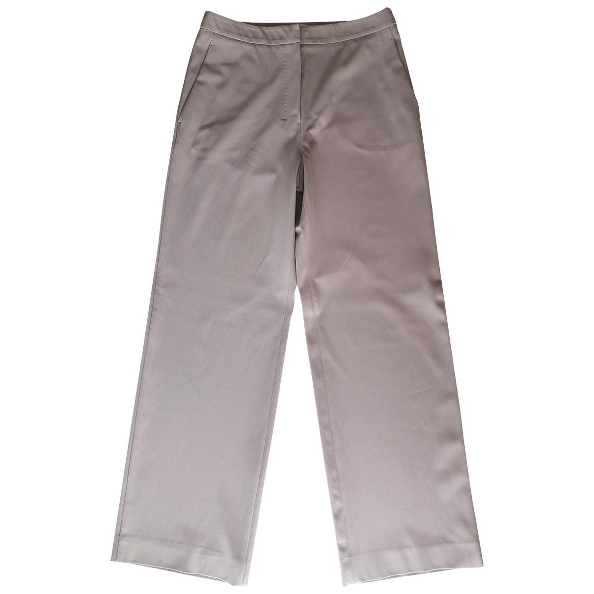 Max Mara 's \N Beige Trousers for Women 38 IT