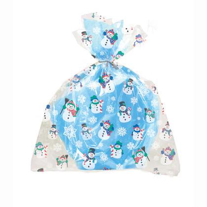 Bonhomme de neige grands sacs en cellophane, 20 x 16 po, 4 ct