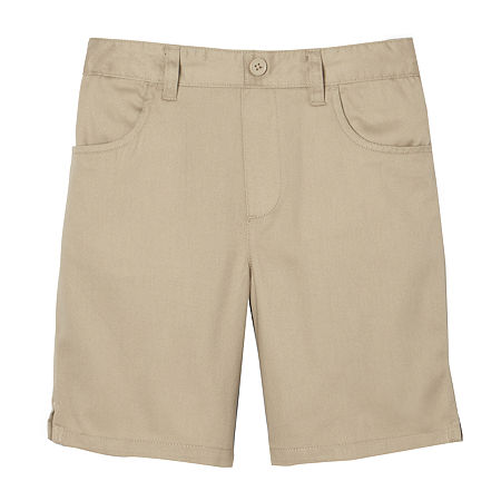 French Toast Little & Big Girls Pull-On Short, 20.5 Plus , Beige
