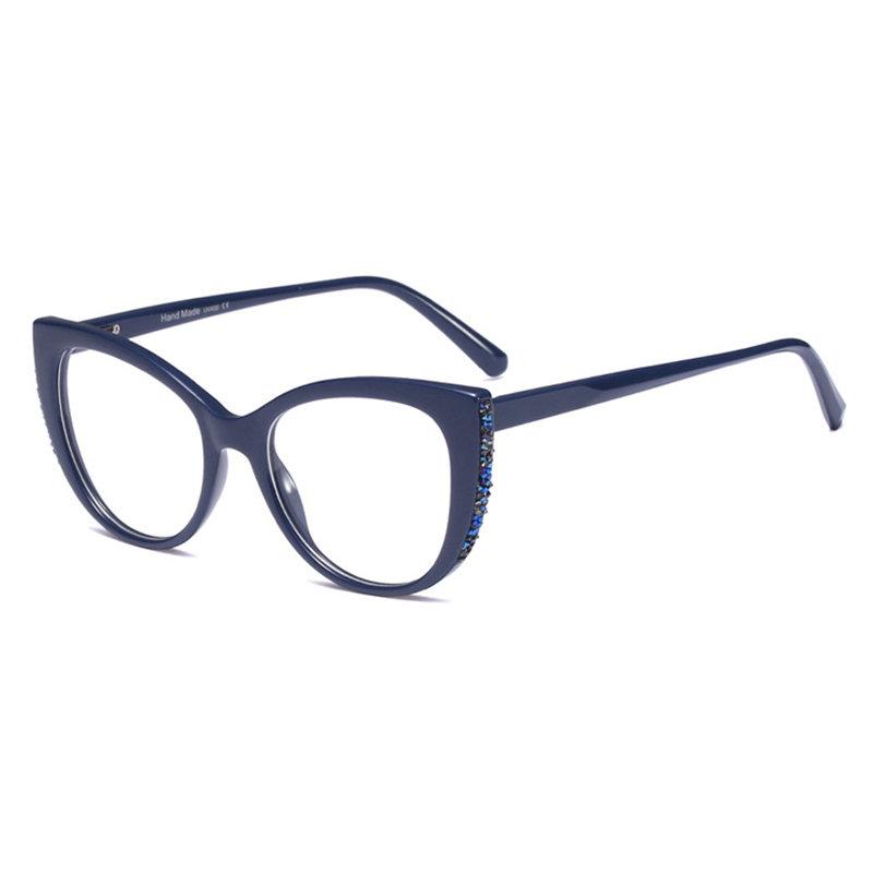 Women Vogue Light PC Anti-fatigue Comfortable Computer Cat Eye Reading Glasses