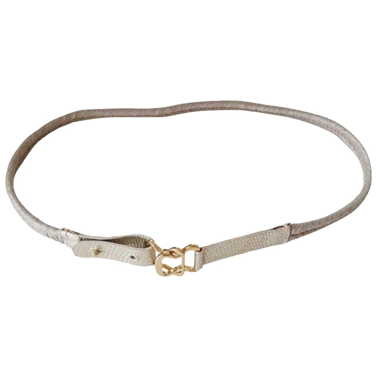Max Mara \N Gold Leather belt for Women XS International