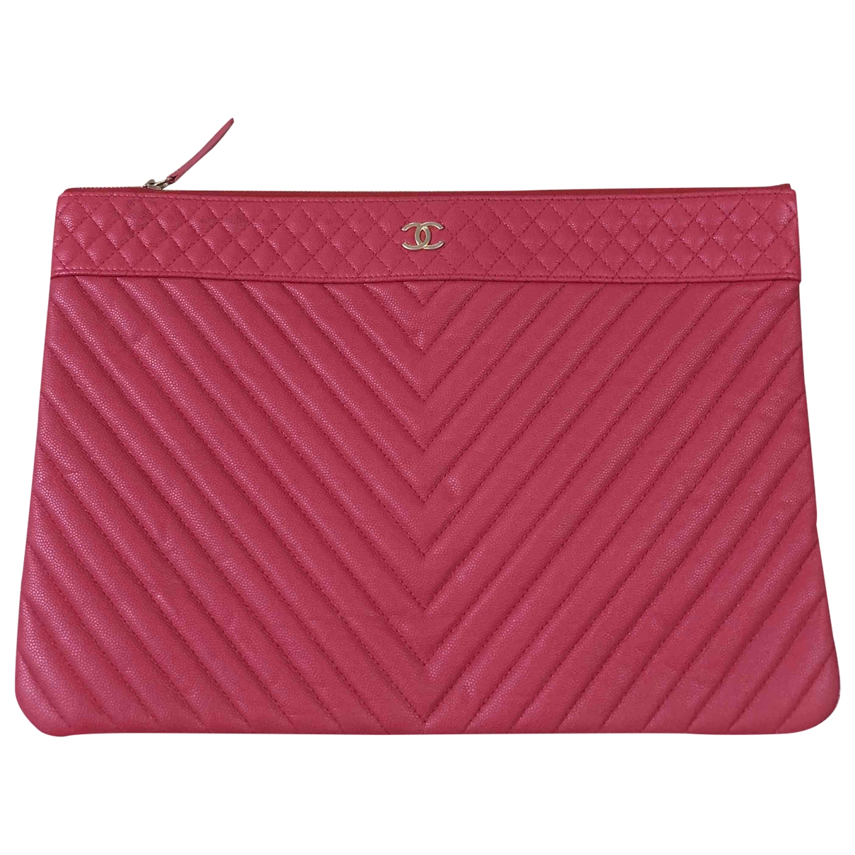 Chanel \N Pink Leather Clutch bag for Women \N