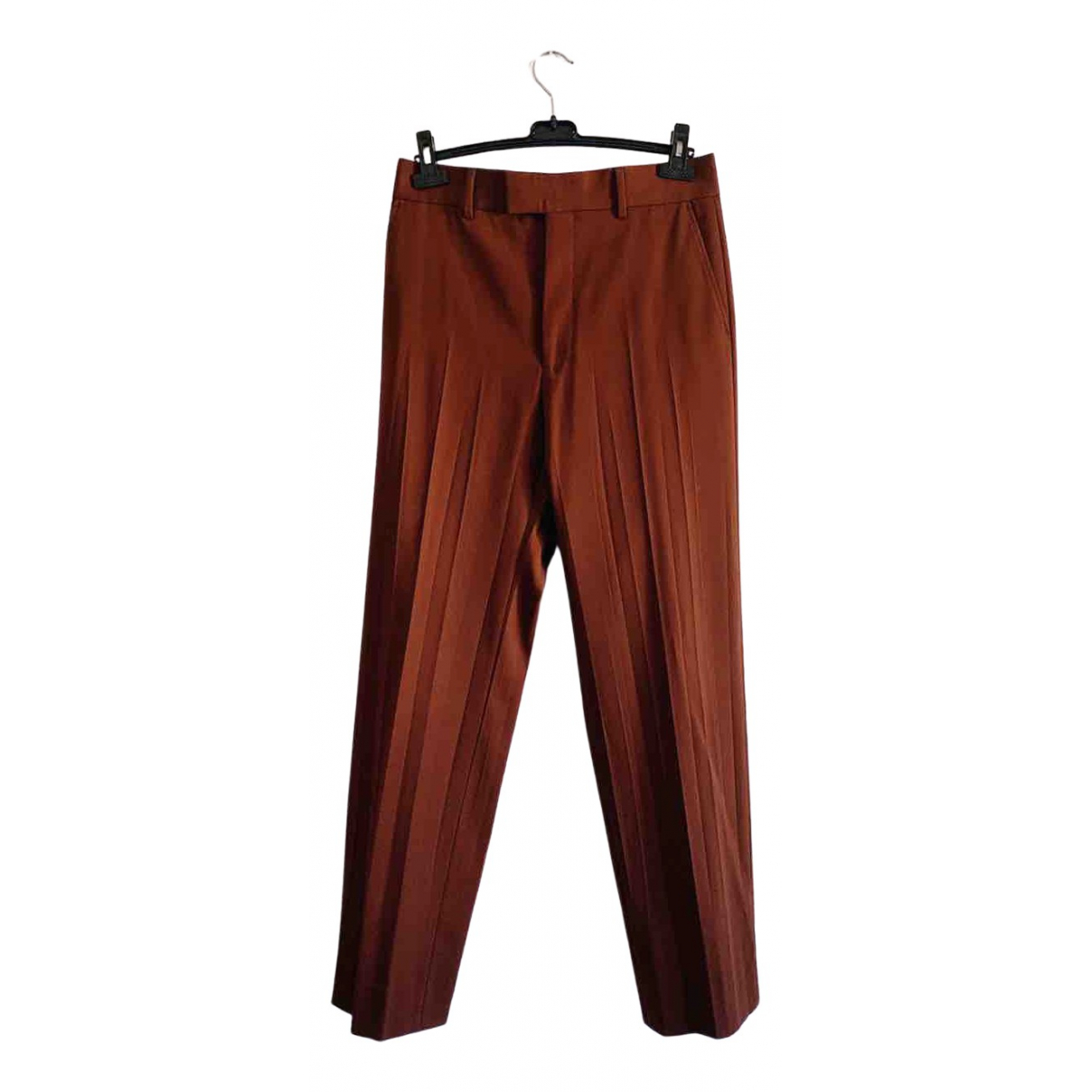 Gucci \N Brown Wool Trousers for Men 48 IT