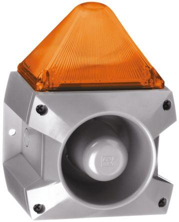 Pfannenberg PA X 5-05 Sounder Beacon 100dB, Amber Xenon, 24 V dc