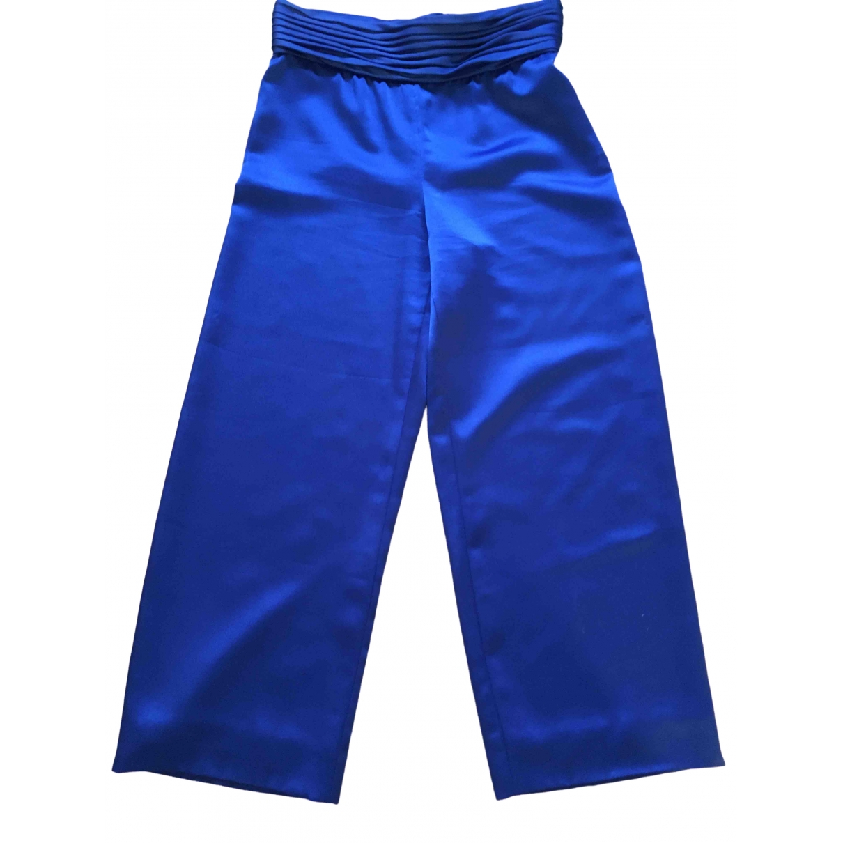 Non Signé / Unsigned \N Blue Cloth Trousers for Women M International