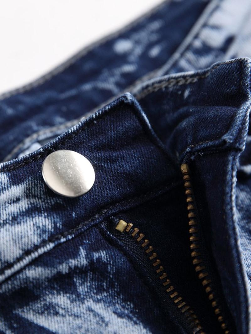 Ericdress Straight Zipper Jeans