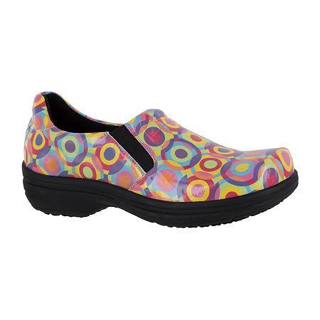 Easy Works By Easy Street Womens Round Toe Bind Clogs, 6 Wide, Multiple Colors