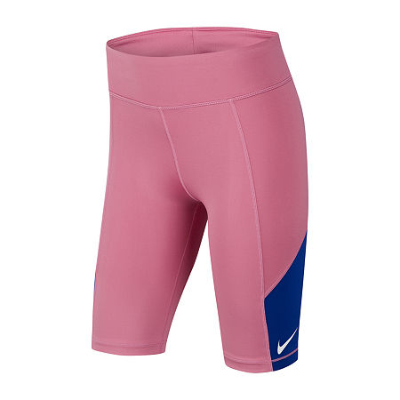 Nike Big Girls Bike Short, Medium , Pink
