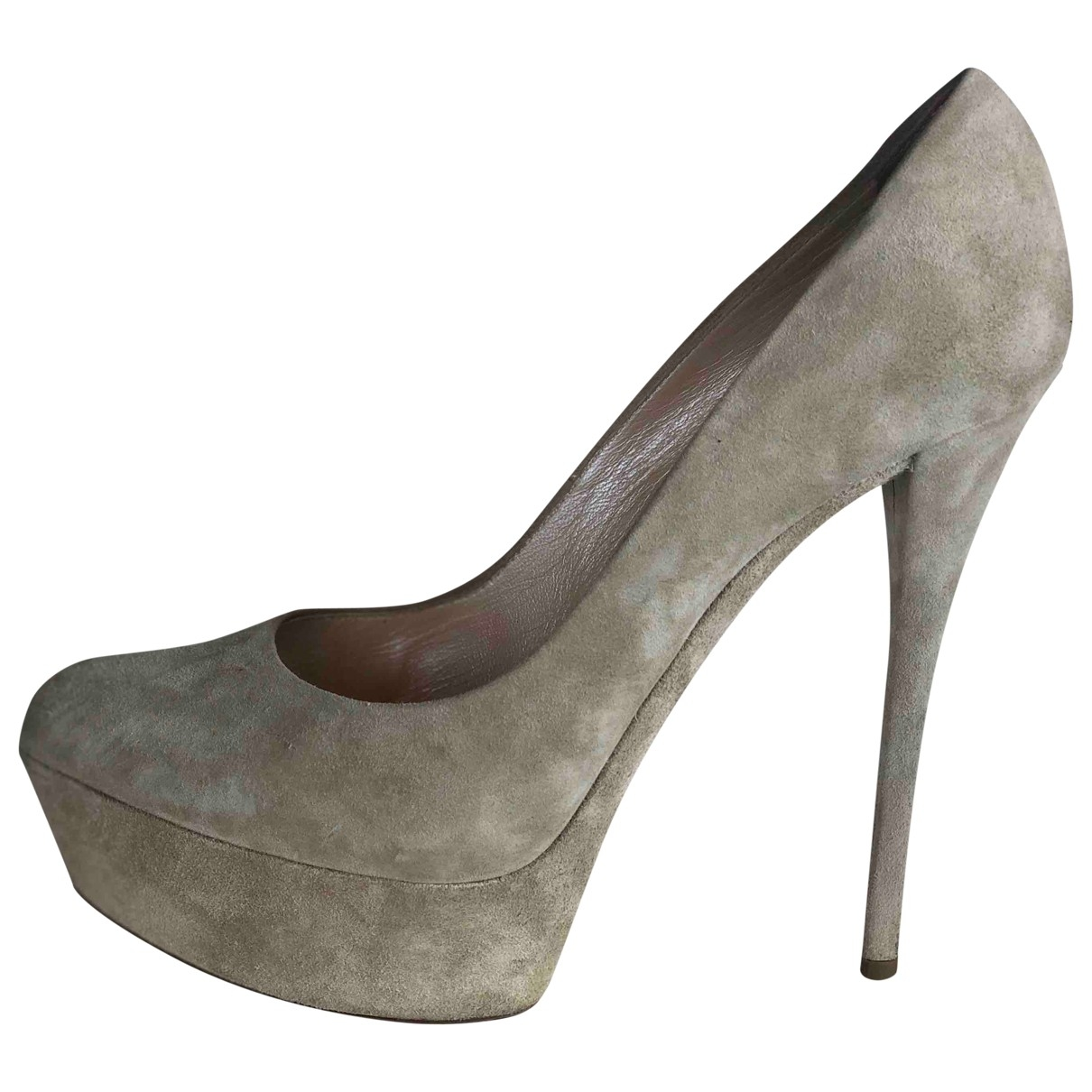 Casadei \N Beige Suede Heels for Women 39.5 EU