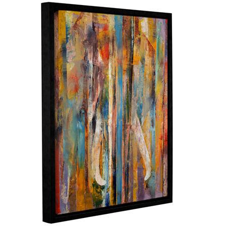 Brushstone Elephant Gallery Wrapped Floater-FramedCanvas Wall Art, One Size , Blue
