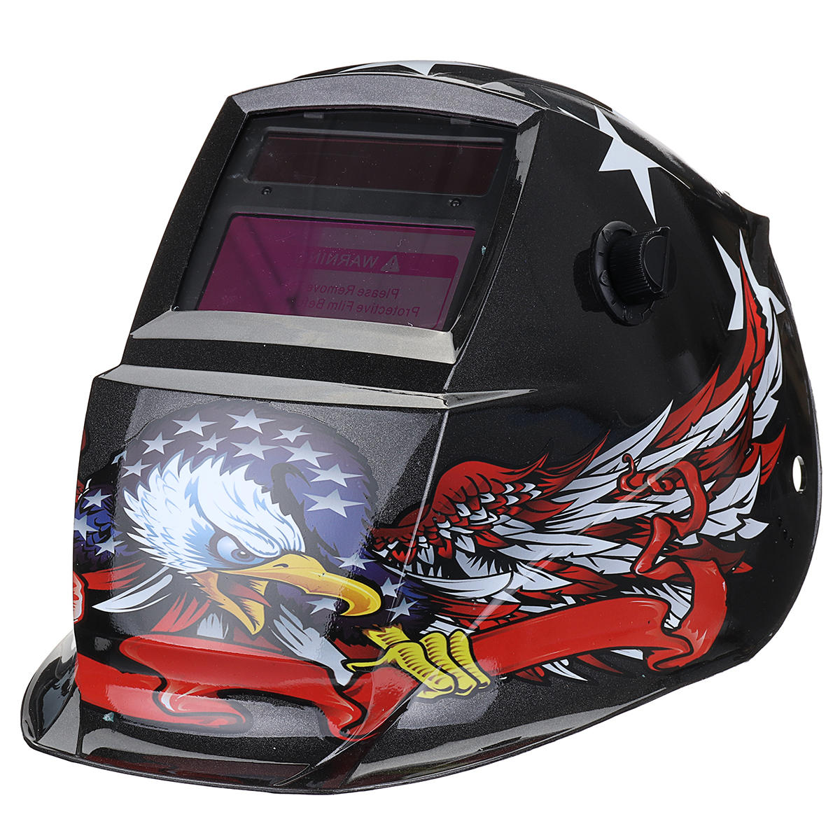 Solar Power Automatic Dimming Welding Helmet Welder Mask Adjustable Head Band PA