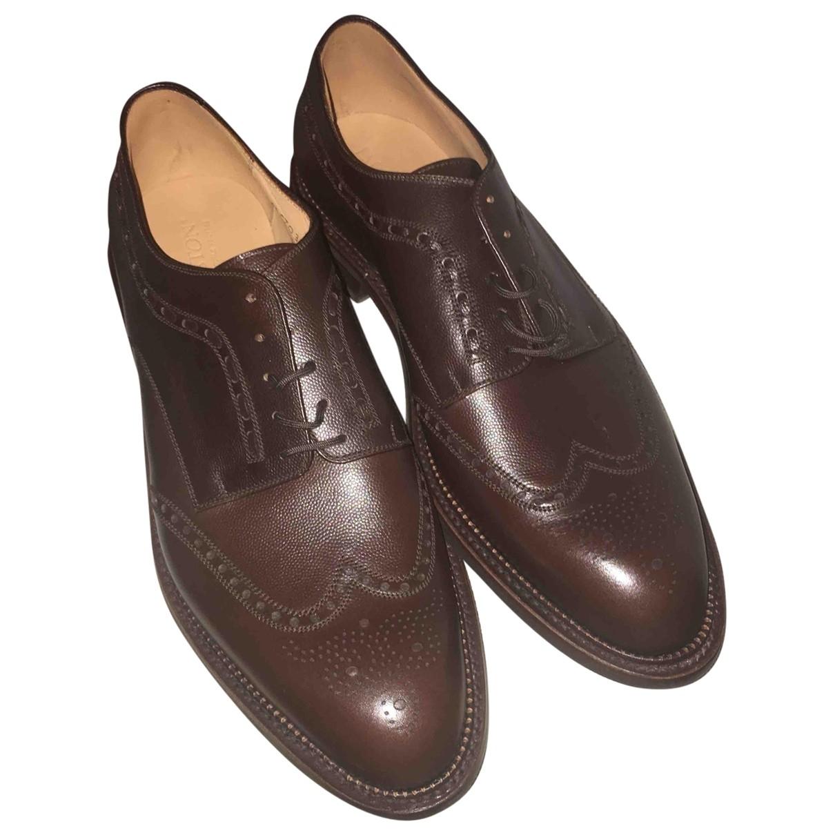 Jm Weston \N Brown Leather Lace ups for Men 43 EU
