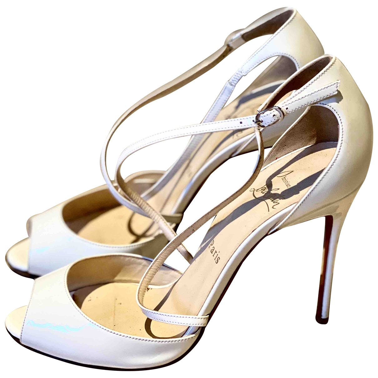 Christian Louboutin \N White Patent leather Sandals for Women 39 EU
