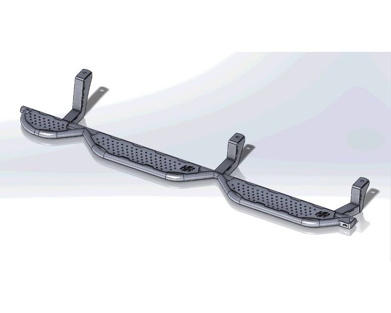 Hammerhead Armor 600-56-0354 Dodge RAM 1500 Running Boards Crew Cab 5 Foot 7 Inch Bed With Bed Access For 09-18 RAM 1500 Black Steel