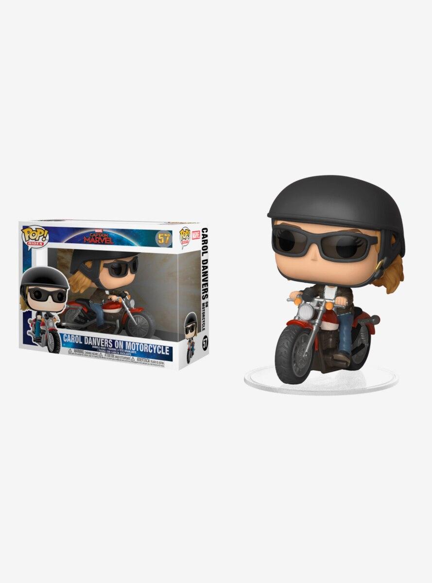 Funko Pop! Rides Marvel Captain Marvel Carol Danvers On Motorcycle Vinyl Figure
