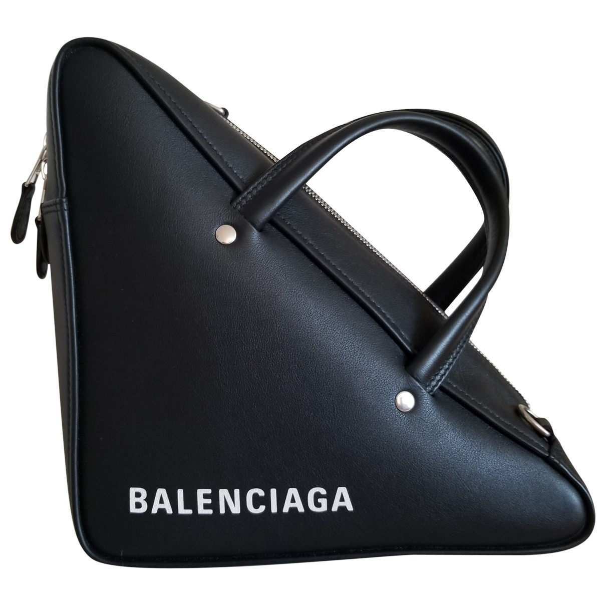 Balenciaga Triangle Black Leather handbag for Women \N