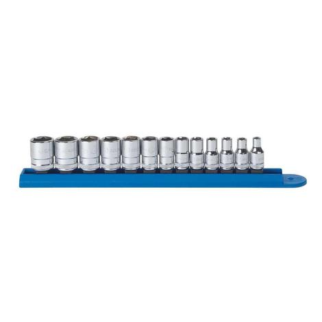 GearWrench Socket Set, 13 Pc. 1/4 In. Dr. 6 Pt., Metric