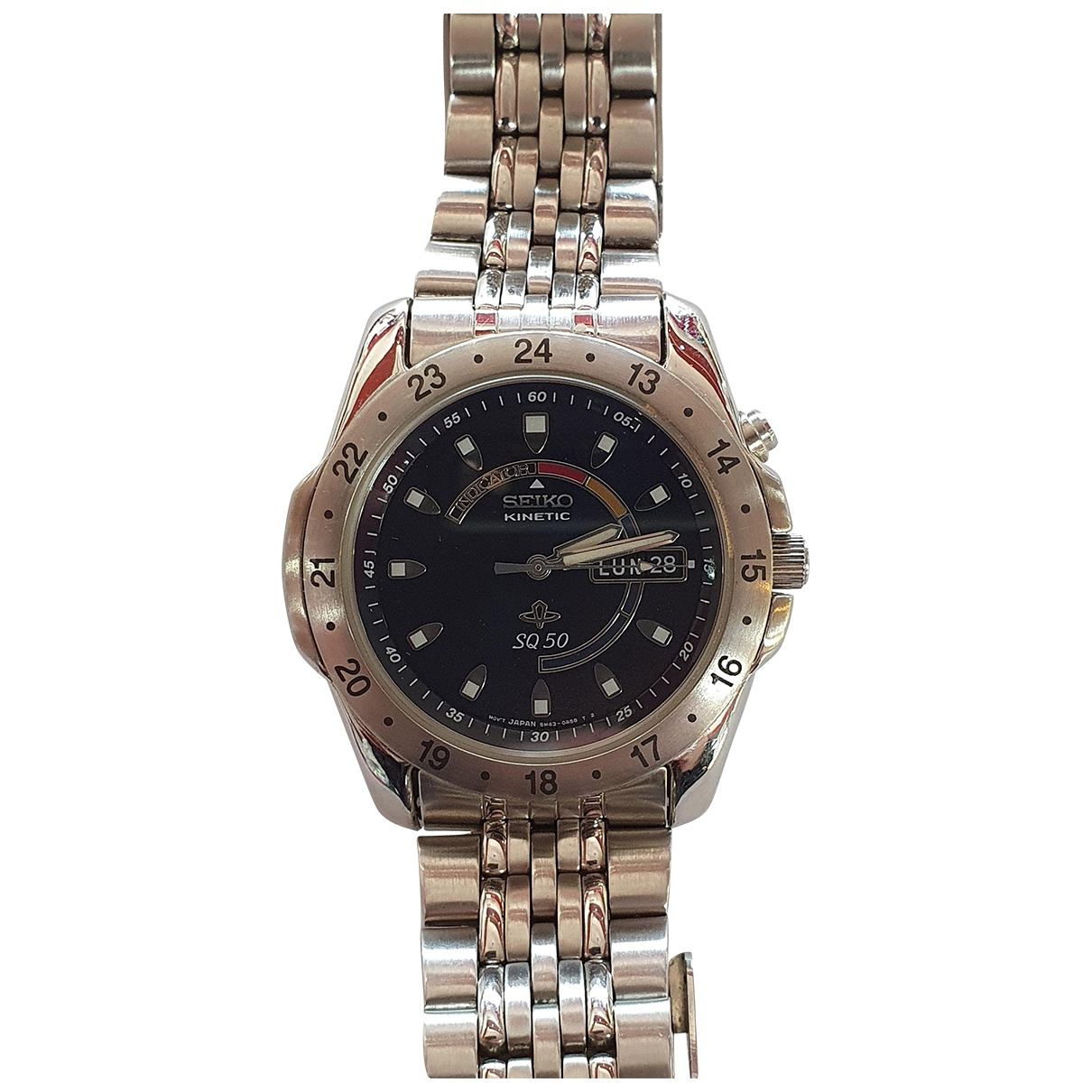 Seiko \N Anthracite Steel watch for Women \N
