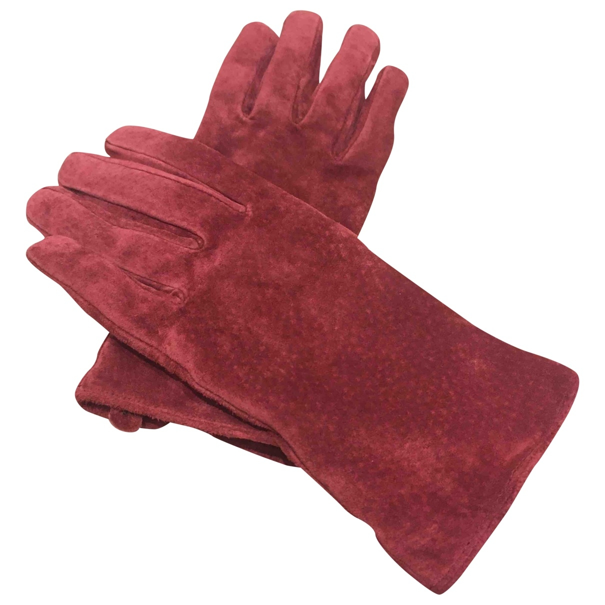 Non Signé / Unsigned \N Pink Leather Gloves for Women XS International