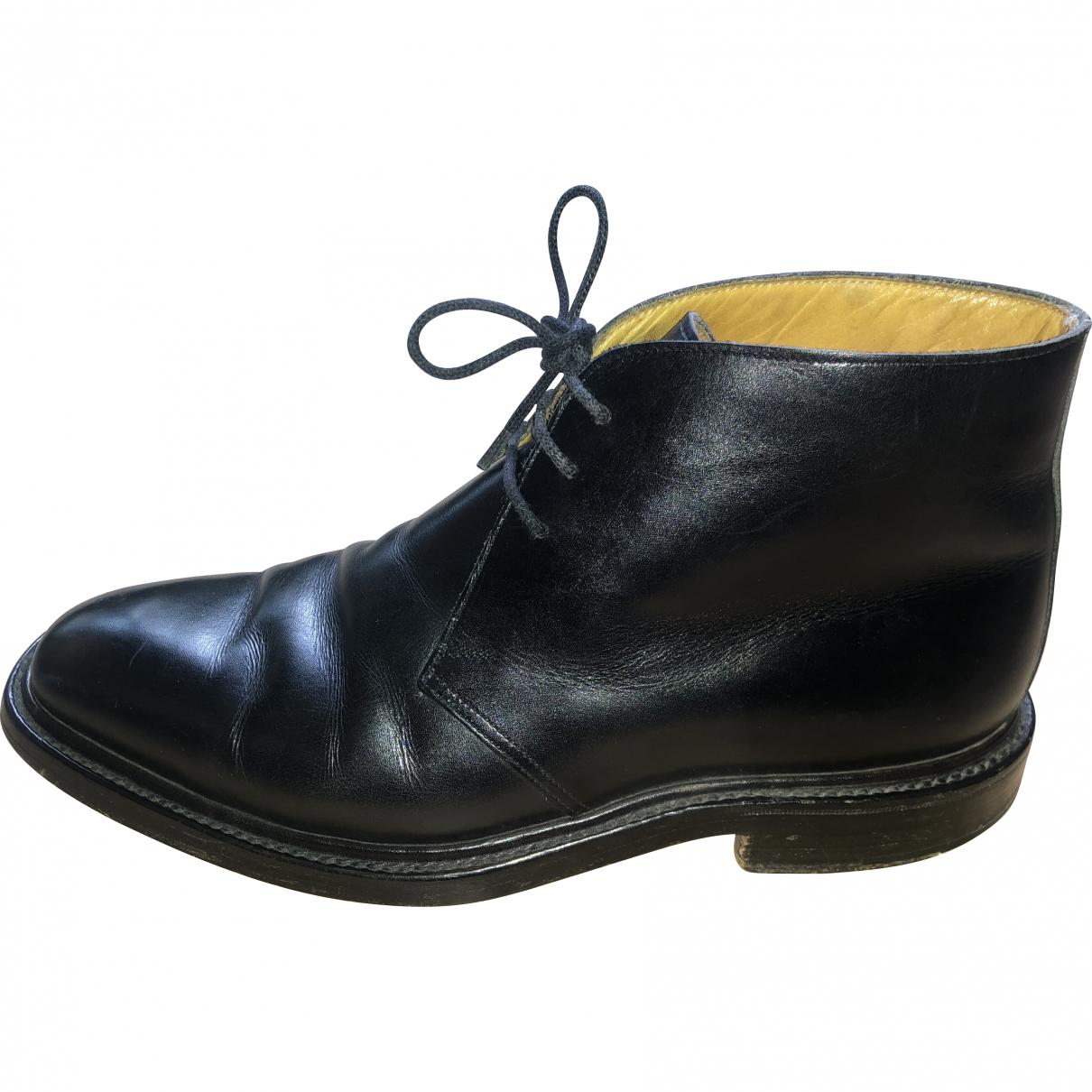 Crockett& Jones \N Black Leather Boots for Men 6.5 US