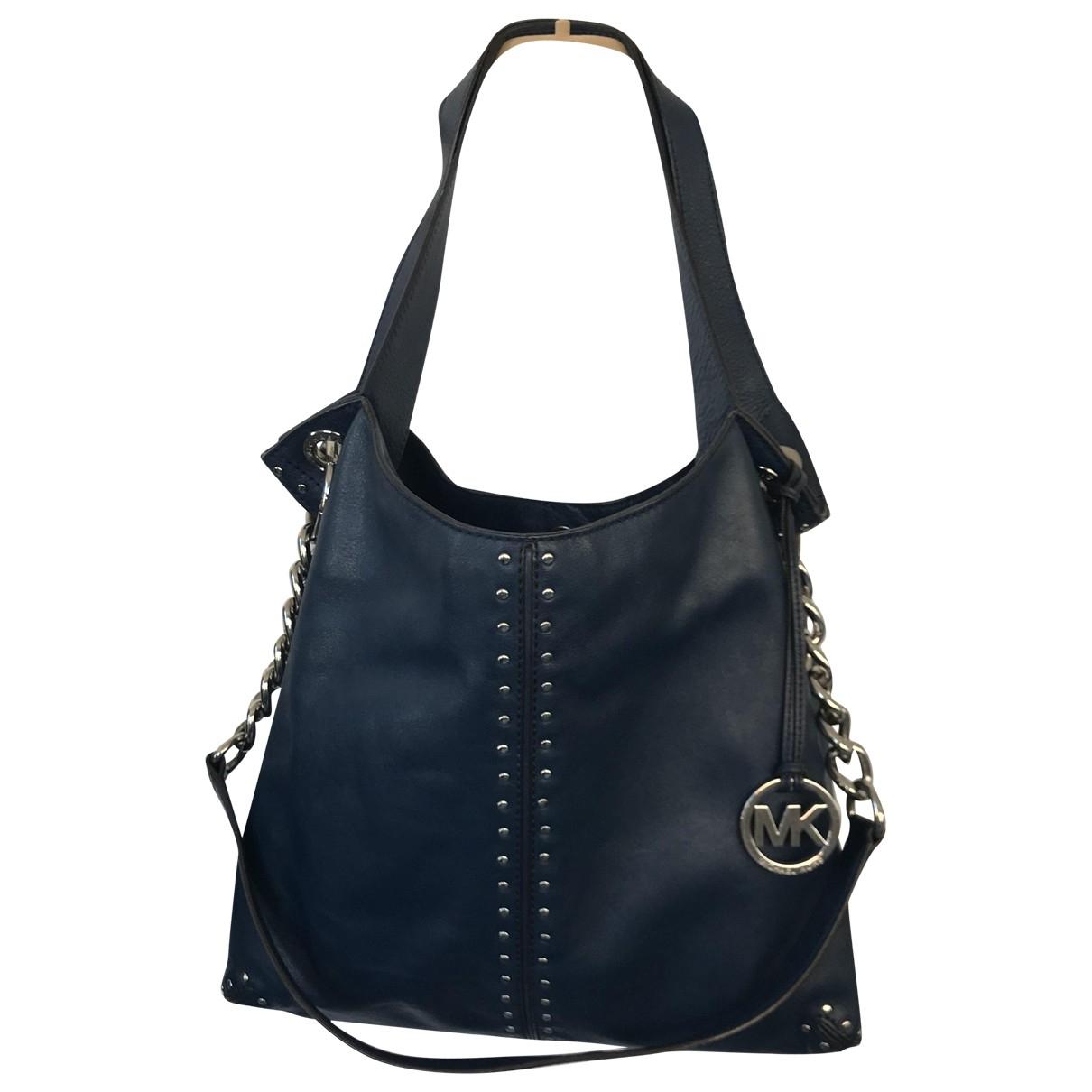Michael Kors Bedford Blue Leather handbag for Women \N
