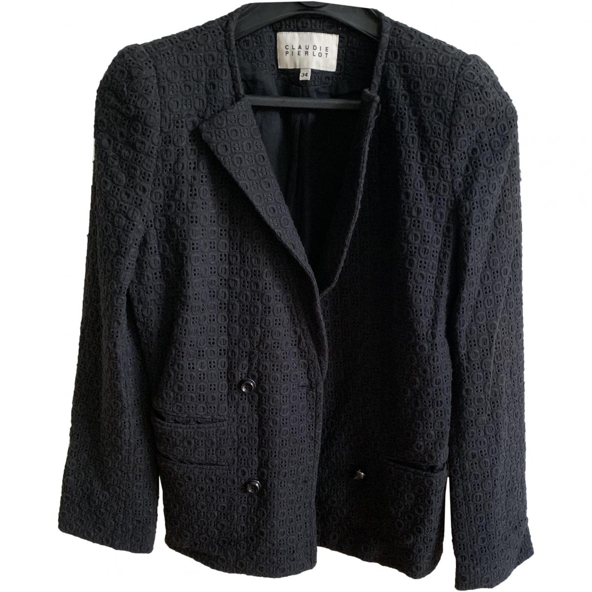 Claudie Pierlot \N Black Cotton jacket for Women 34 FR