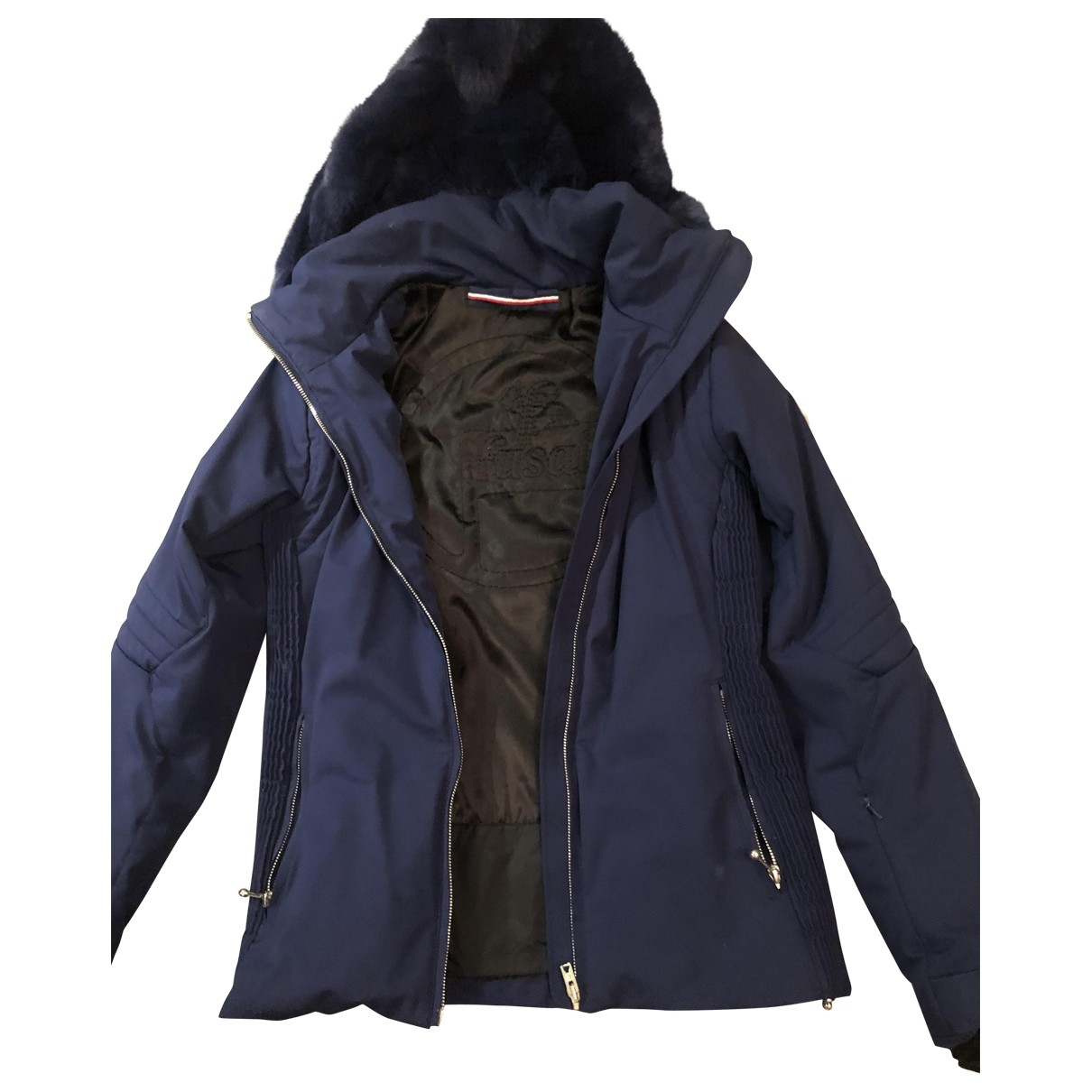 Fusalp \N Blue Leather jacket for Women 36 FR