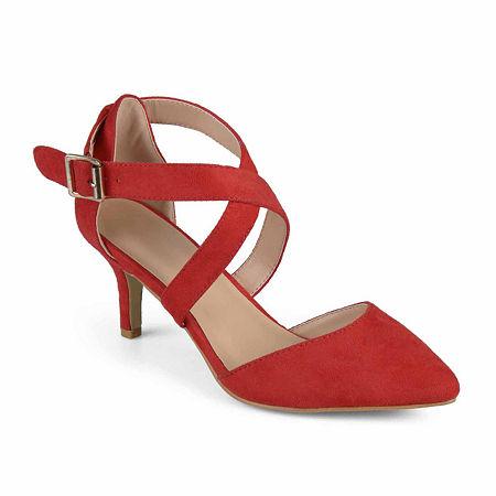 Journee Collection Womens Dara Pumps Stiletto Heel, 12 Medium, Red