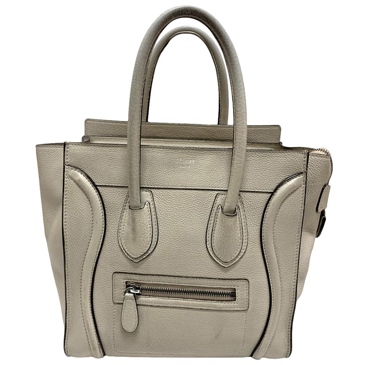 Celine Luggage Beige Leather handbag for Women \N